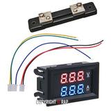 Voltímetro Amperímetro Digital Led Cc 100v / 50a - Shunt 50a