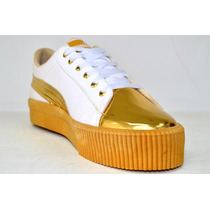 Zapatos Puma Deportivos Para Dama Blanco Y Amarillo