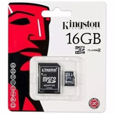 Cartao De Memoria Classe 4 Kingston Sdc4/16gb Micro Sdhc 16g