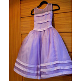 Vestido Dama De Honra Infantil Lilás Lindo