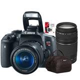 Canon T6 Super Kit Premium 18-55mm + 75-300mm + Bolso + 64gb