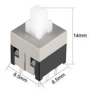 Lote De 2 Boton Pulsador Con Retencion 8.5x8.5 6 Pine -pdiy-