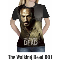 Camiseta Blusa Person Séries The Walking Dead Feminina