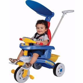 Triciclo Fit Trike Azul Para Passeio Bebe Carrinho Criança