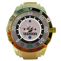 Relógio Dourado Painel Fusca 120km/h Impacto Relógios Barato