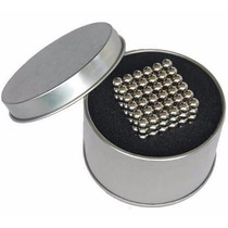 Neocube Cubo Magnético Imã 5mm C/ Caixa Alumínio 216 Esferas