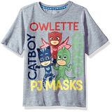 Pj Masks Camiseta De Manga Corta Para Niños Pequeños, Gris
