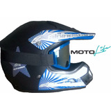 Casco Moto Cross, Lentes Incluidos