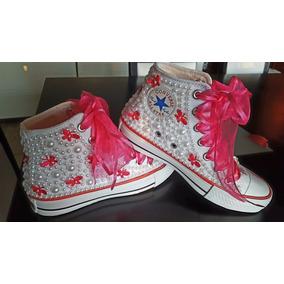 Zapatillas Botita,decoradas,bodas,15 Años,comunion,egresado