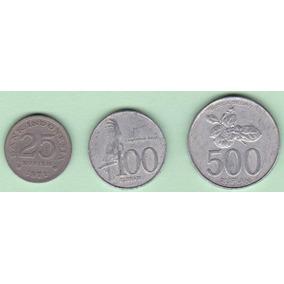 Indonesia Excelente Lote 3 Monedas Diferentes B 49