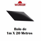 Piso De Borracha Liso - Rolo Com 20mx1mx3,2mm-worker
