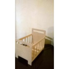 Centro De Mesa Baby Shower Cuna De Bebe Acabado Natural