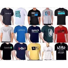 Kit 10 Camiseta Camisa Masculina Marca Estampada Atacado. R  124 99. 12x R   10 sem juros. Frete grátis 9bc4d9677633c