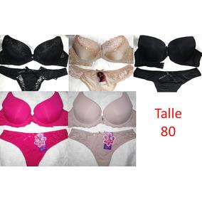 Lenceria Femenina Pack 3 Conjuntos Por Mayor Talle 80-85