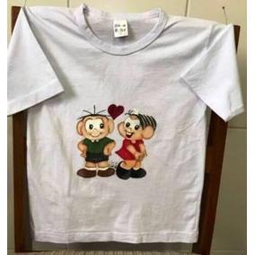 Camiseta Infantil Pintada A Mão