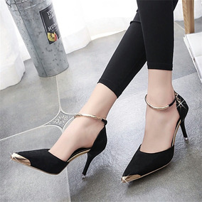 Sapato Scarpin Salto Importado Bico Fino