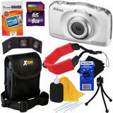 Camara Nikon Coolpix S33 Contra Agua Golpes + 8 Accesorios