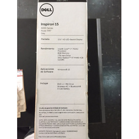 Laptop Dell Inspiron 5567 Serie 5000 Nueva