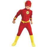 Disfraz Niños Dc Comics Flash Pecho Musculos Talla Small