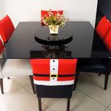 Kit 4 Capas Cadeira Natalina Roupa Do Papai Noel Feliz Natal