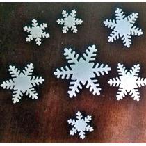 Copos De Nieve Frozen, De Porcelana Nacarados X 40 U!