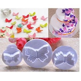 Cortantes Con Expulsor Mariposa Fondant Reposteria Porcelana