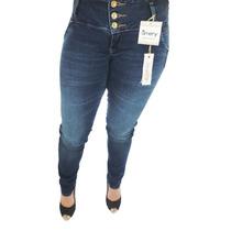 Calça Jeans Feminina Confort Plus Ri19 Com Renda No Bolso