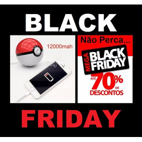 Carregador Portátil Pokémon Go Pokebola Black Friday