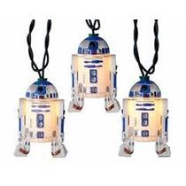 Navidad Star Wars R2d2 Serie Luz Con Esferas Darth Yedi Bb8