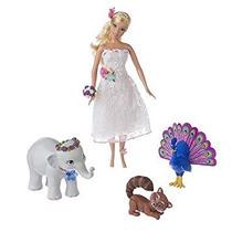 Juguete Barbie Princesa De La Isla Rosella En Vestido Blanc