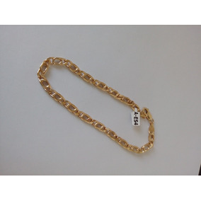 Esclava Para Caballero 22.5cm. X 6cmm Oro Italiano 10k