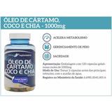 Óleo De Cártamo, Coco E Chia 1000mg 120cps