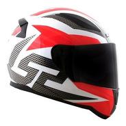 Capacete Ls2 Ff353 Rapid Grid Branco/preto/vermelho
