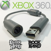 Cable Usb De Guitarra Bateria Xbox 360 Rock Band Guitar Hero