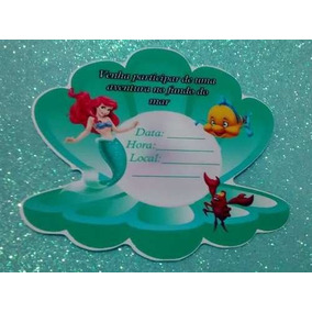 40 Ariel Convite Pequena Sereia N