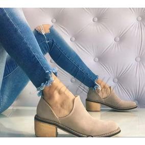 Zapatos Bajos Mujer Texana Chatitas Taco Bajo Folia