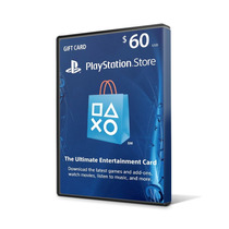 Playstation Network Card Cartão Psn Card $60 ($50+$10) Us