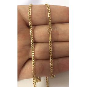 Corrente Cordão Grumet 60cm Masculino Ouro 18k Frete Grátis
