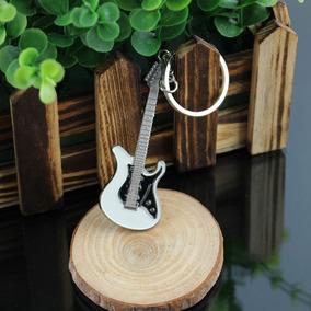 Chaveiro Rock Guitarra Branca Arte Música E Violão Cultural