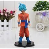 Muñeco Dragon Ball Z Goku Pelo Azul Fase Dios Colecionable