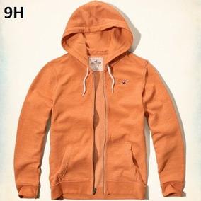 S - Chamarra Sudadera Hollister Naranja Ropa 100% Original