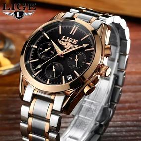 Relógio Luxo Lige 9808 Prova D