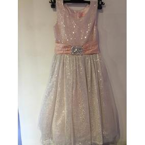 Vestido De Fiesta Talle 10 Importado.espectacular Diseño!!!
