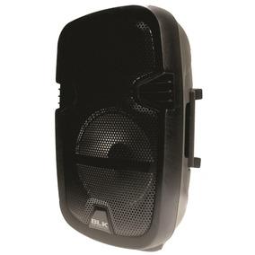 Bafle Amplificado Recargable 8 Bluetooth Usb Fm Aux Luz Led