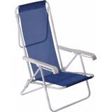 Cadeira Praia Reclinável Aço 8 Posições Diversas Cores Mor