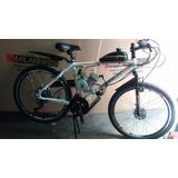 Bicicleta Motorizada Motor 2 Tempos 80 Cc Com 21 Velocidades