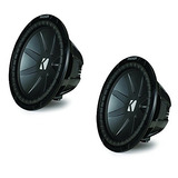 Kicker Compr Package - Two 12 Compr Subwoofers Dual 4 Ohm 4