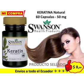 Keratina Natural 50 Mg 60 Caps Piel Cabello Uñas Biotina Y +