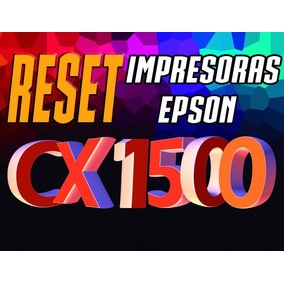 Reset Desbloqueador De Impresora Epson Cx1500