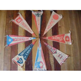 8 Banderines Antiguos De Equipos De Fut-bol